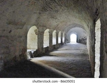 Cloister in an ancient abbey