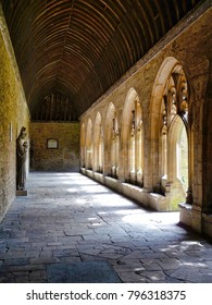 Cloister arches in the sun
