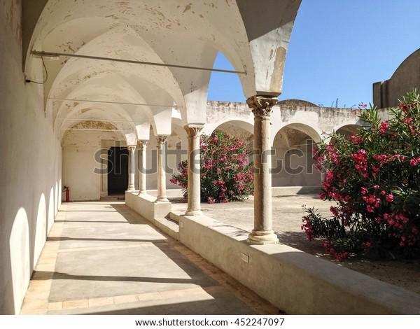 Cloister of Carthusian Monastery in Capri