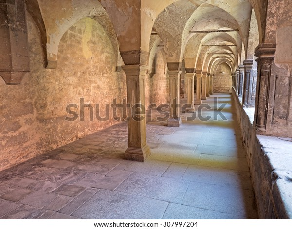 Cloister convent of an old monastry in Germany