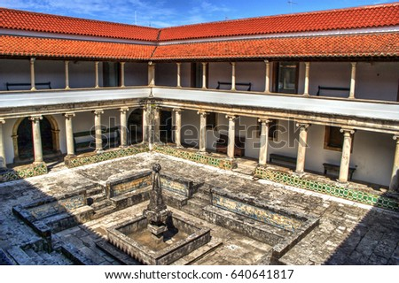 Cloister monastery of Jesus in Aveiro, Portugal