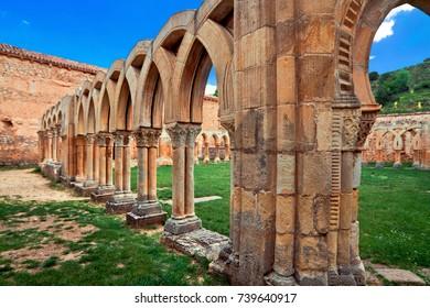 cloister of San Juan de Duero Monastery in Soria. Spain