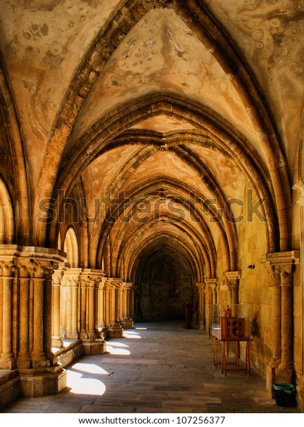 Cloister of Se Velha in Coimbra, Portugal