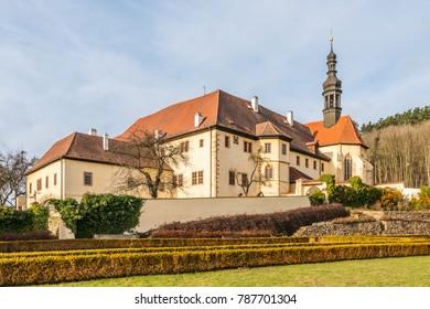 Cloister in town Kadan, Czech republic