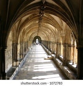 Cloistered Path from a Cathedral