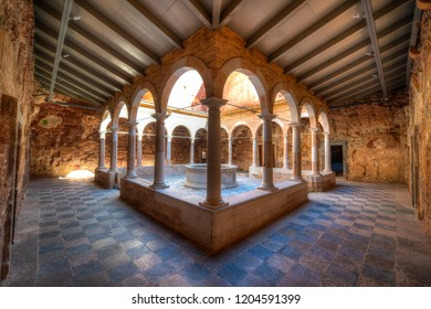 The Cloisters at Cartoixa d'Escaladei in Priorat, Catalonia, Spain