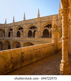 Cloisters of the Jeronimos Monastery in Lisbon, Portugal