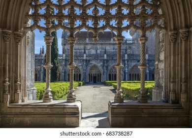 Cloisters in the Monastery of Batalha - a Dominican convent in the town of Batalha, in the Centro Region of Portugal.