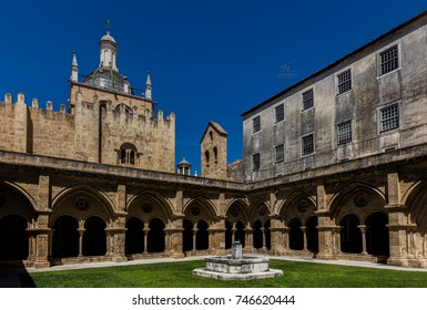 Cloisters of the Old Cathedral of Coimbra, a.k.a. Se Velha, a Romanesque Roman Catholic building, started in 12th century.