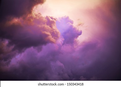 Clolored night clouds, nature series