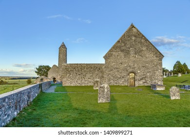 Clonmacnoise abbey is situated in County Offaly, Ireland on the River Shannon south of Athlone
