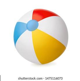 Baloncesto inflable aislado de fondo blanco
