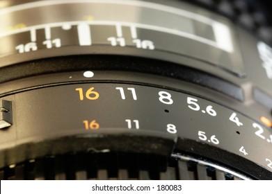 Close up of a 50mm lens
