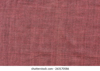 close up abstract of red and black striped cotton textured cloth background