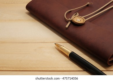 close up accessories for business on wood desk in warm tone