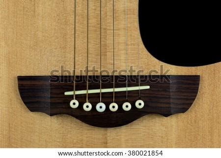 Close Acoustic Guitar Bridge Saddle Stock Photo Edit Now 380021854