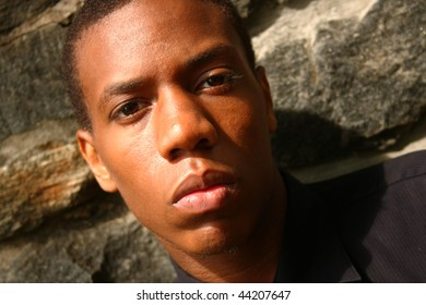 A close up of an African American man