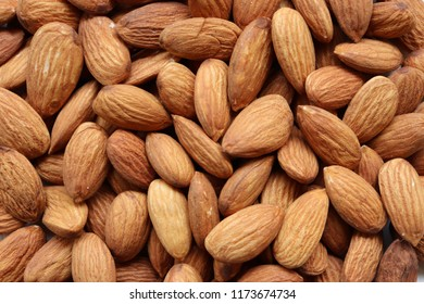 Close up of almonds