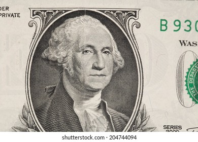 Close up of american dollar bill as a background