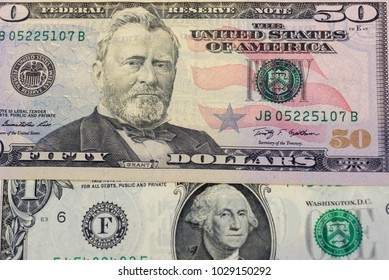 Close up of American dollars