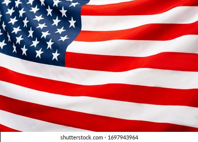 Close up of American flag background, elections in USA 2020