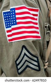 Close up of the American unifrom, second world war style.
