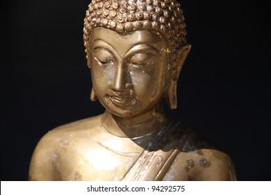 Close Up of Ancient Buddha