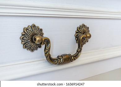 Close- up antique drawer handle