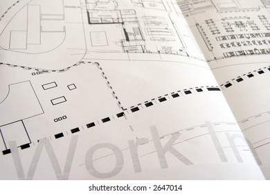 A close up of an architectural drawing