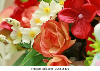 close up of artificial flower
