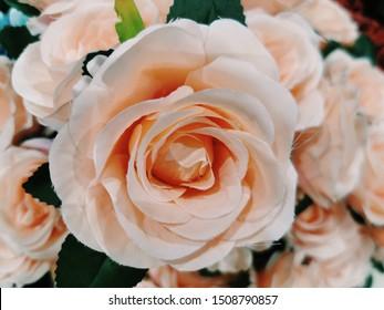 Close up artificial flower decoration