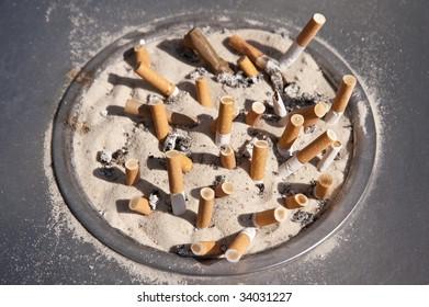 close up of an ashtray