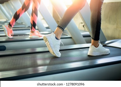 Close up of Asian woman exercise active in gymnasium