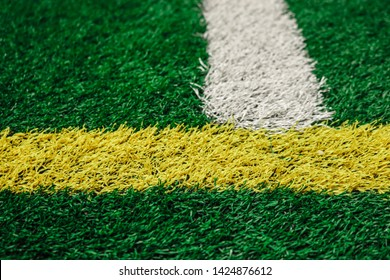 Close Up of Astroturf Color Lines