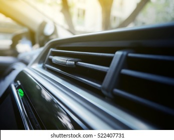 Close up of Automobile air conditioning