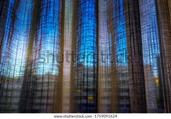 Close Up Background of Curtain Texture