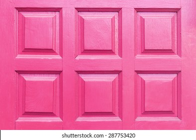 Close up Background Detail of pink wood door