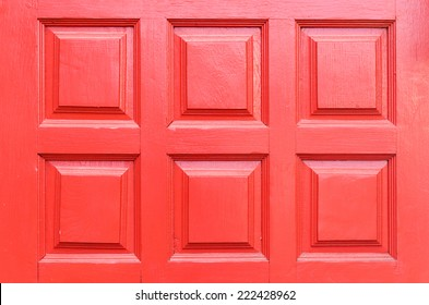 Nahaufnahme - Hintergrund - Detail der roten Holztür