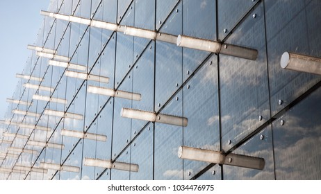 Close up background of modern building