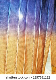 Close Up Background Pattern of blind, curtain, shades, shutters textile on  public bus.Take pictures from mobile.