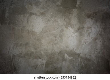 close up background and texture of cement Smooth plastered wall