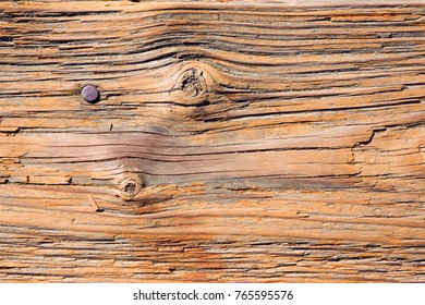 Close up background of a weathered pier plank.