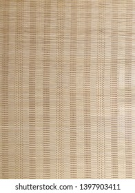 Close up of bamboo curtain pattern material