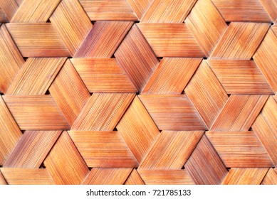 Close up bamboo weaved background.