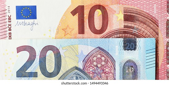 close up of banknote for background