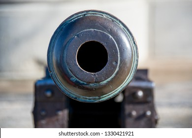 Close up of the barrel of a canon on the top of Wernigerode Castle, Harz, Germany