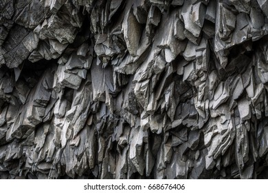 Close up of Basalt rock showing patterns for backgrounds