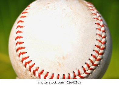 close up of baseball, room for your text