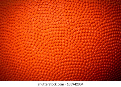 Close up of Basketball skin pattern for background and texture.