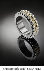 Close up of bearings